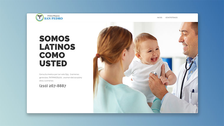 Health Clinic Website Image
